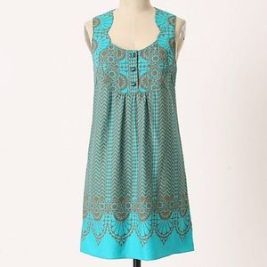 Anthropologie Anna Sui Endless Chevron Shift Dress